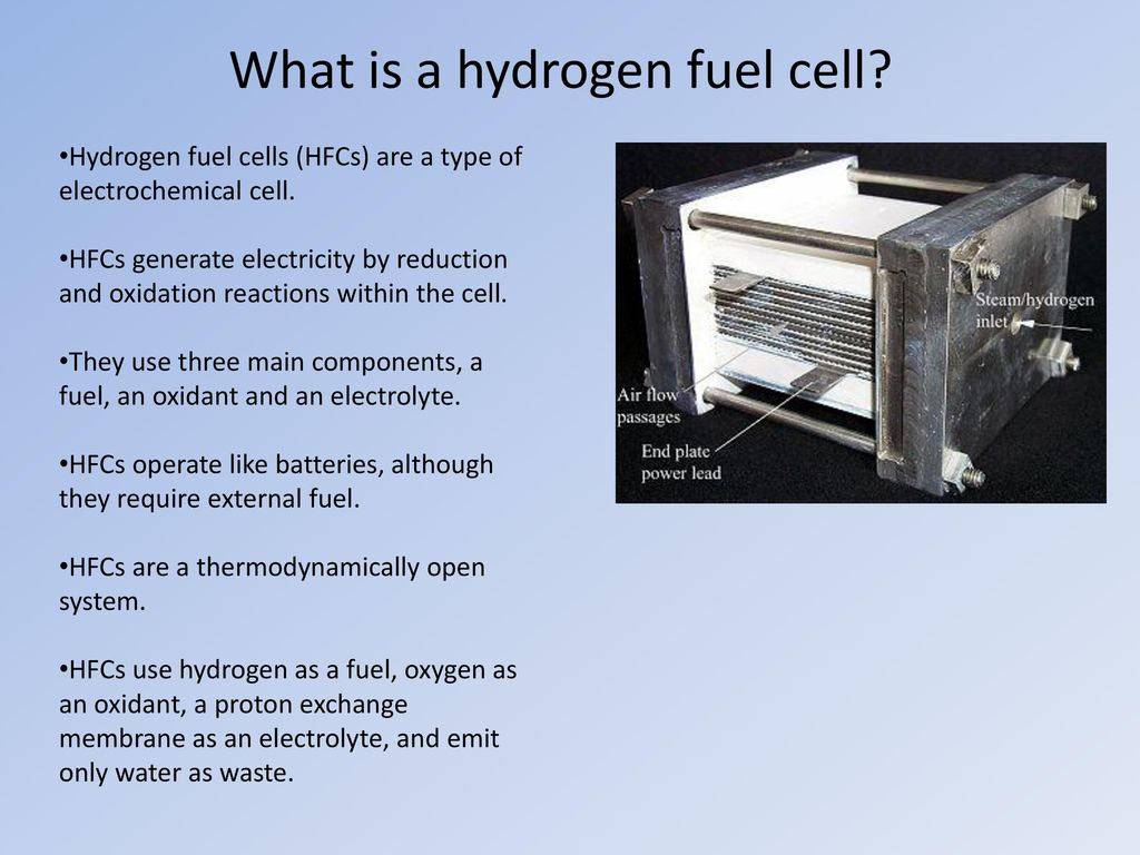 Electrochemistry Rechargeable Batteries And Fuel Cells Ppt Download Produceelectrical Power By Oxidizing A Such As Hydrogen What Is Cell