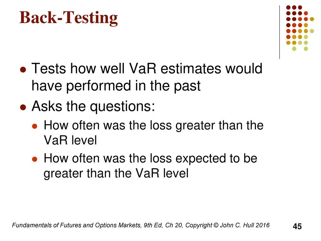 Value At Risk And Expected Shortfall Ppt Download