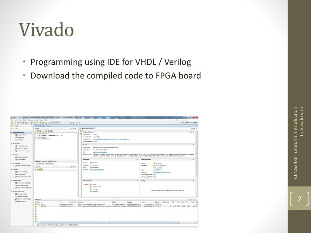 Introduction to Vivado - ppt download