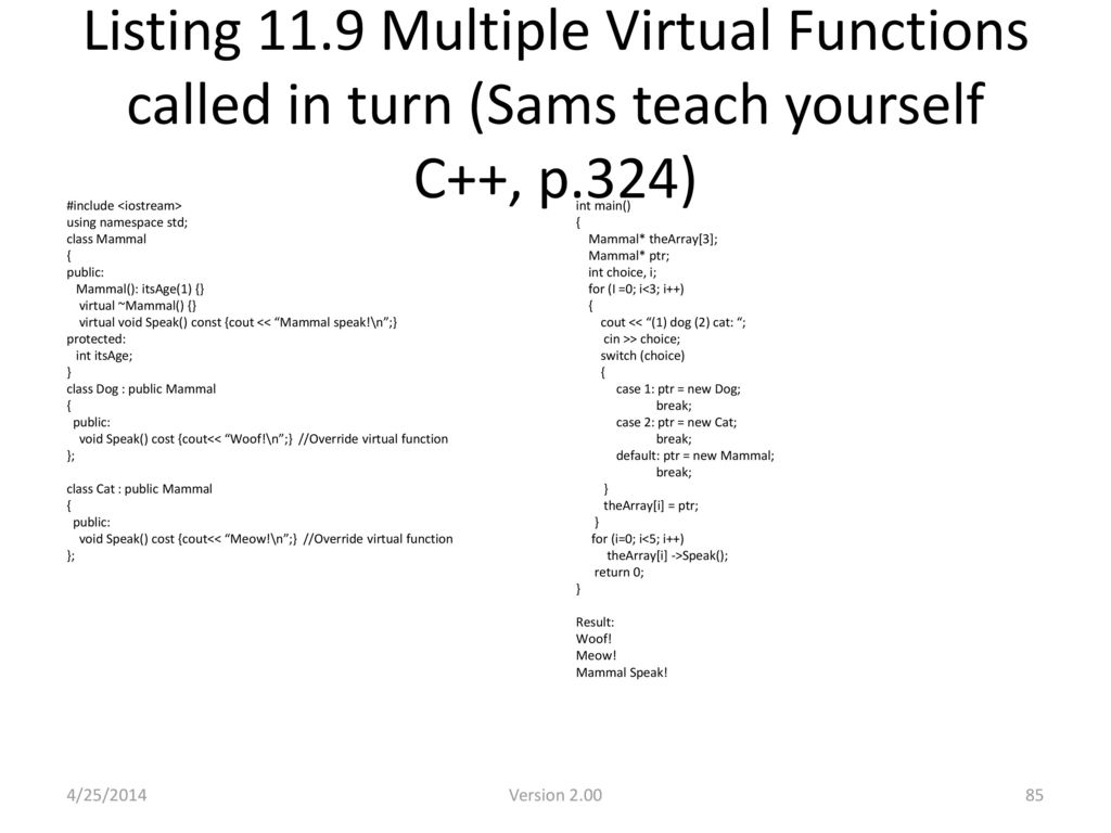 One Hour Advance C++ By: Marina K  Lam - ppt download