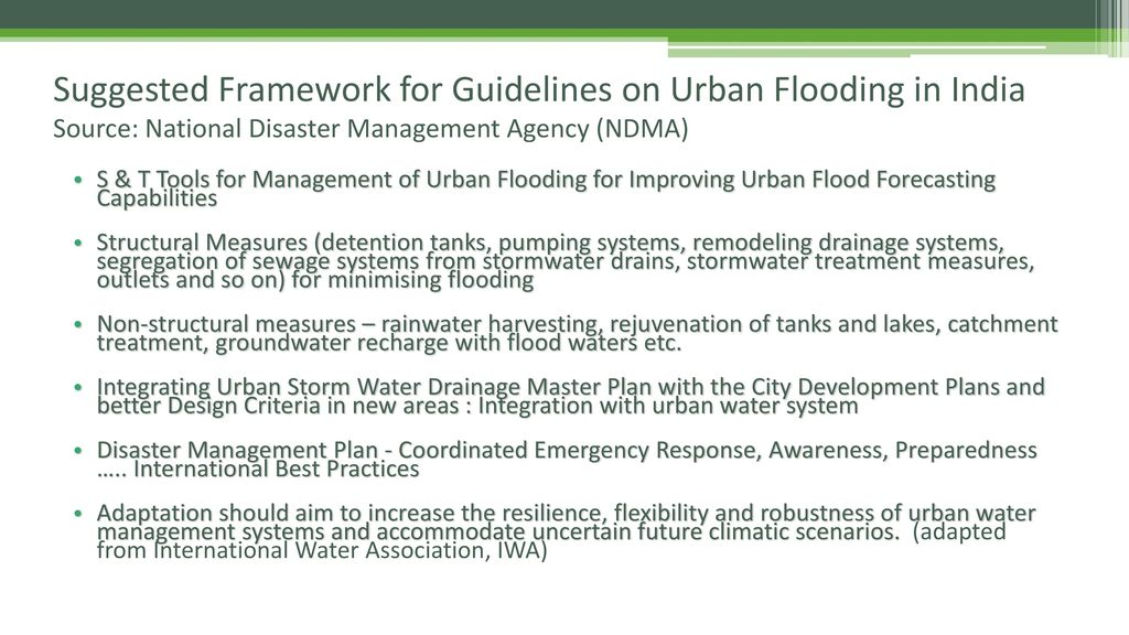 Urban Floods: Issues and Challenges - ppt download
