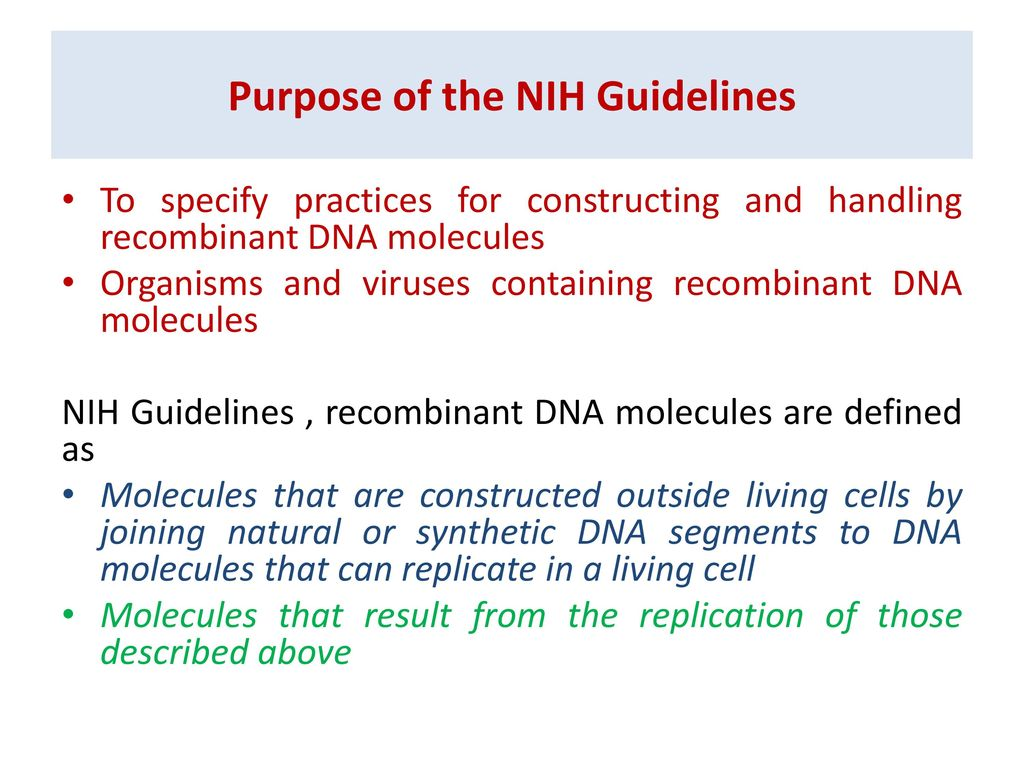 biosafety and recombinant dna technology - ppt download