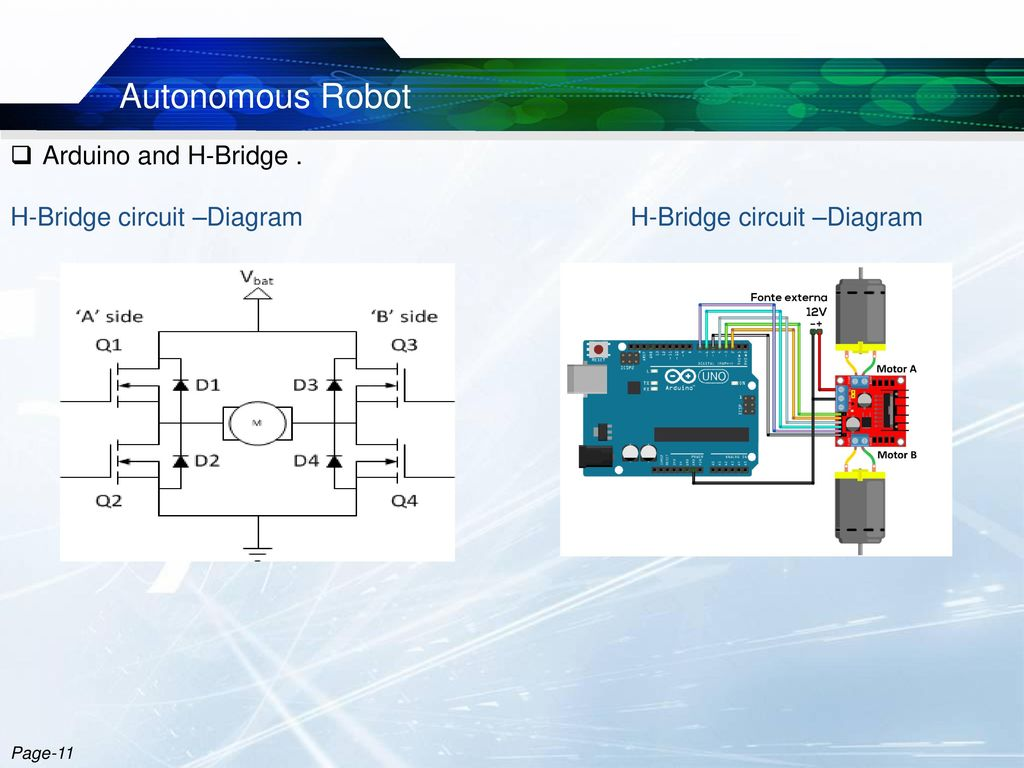 Metal Detector Robotic Vehicle Ppt Download H Bridge Circuit Diagram Autonomous Robot Arduino And