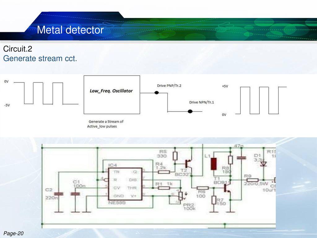 Metal Detector Robotic Vehicle Ppt Download Simple Oscillator Pipe Locator Circuit Diagram 21 Circuit2 Generate Stream Cct Page 20