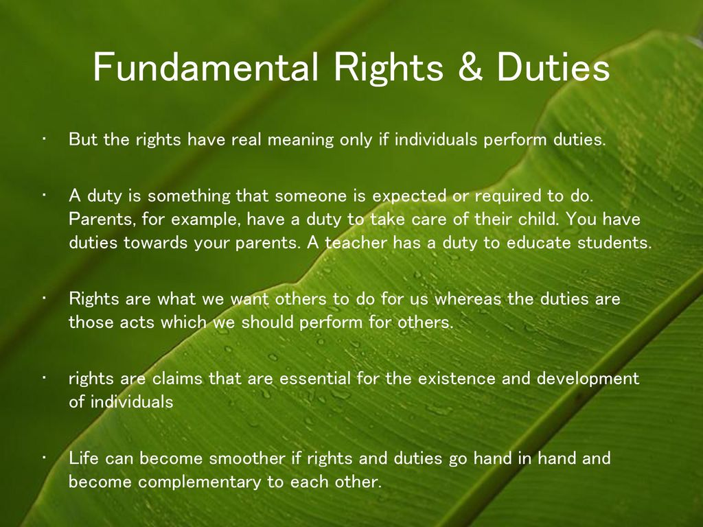 rights and duties go together