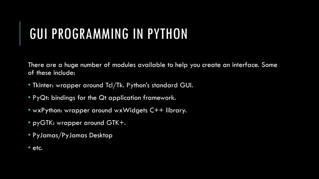 Lecture 17 GUI Programming  - ppt download
