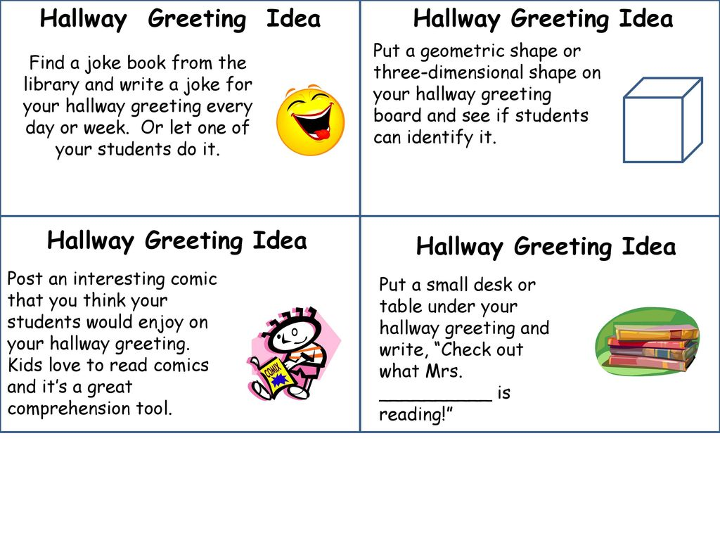 Hallway Greetings Welcome Mess Agendas Community Circles Ppt