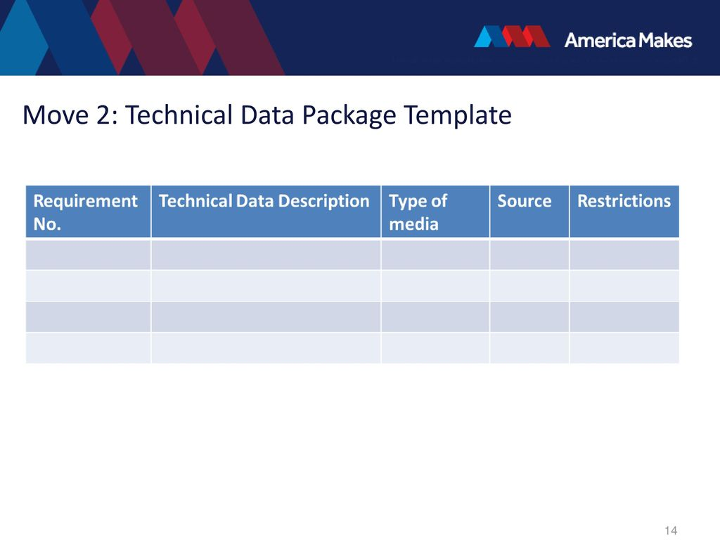 Technical data package template choice image for Technical data package template