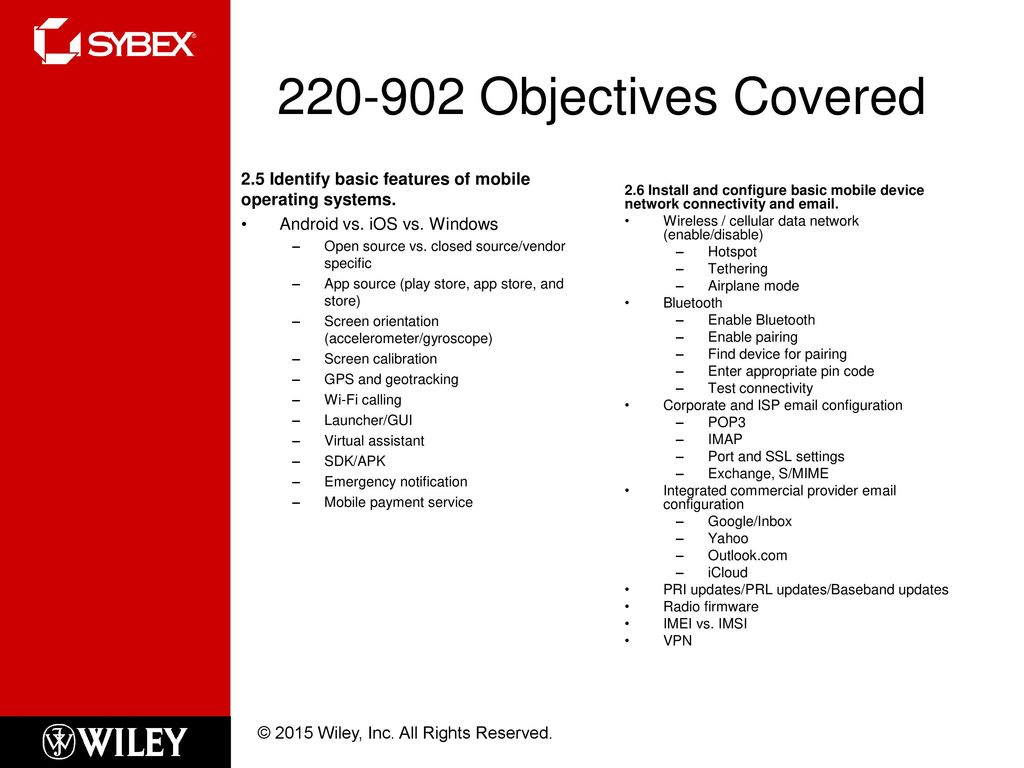 Mobile Operating Systems and Connectivity - ppt download
