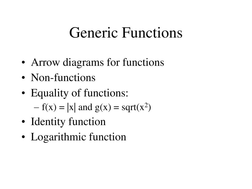 Discrete mathematics lecture 3 and 4 ppt download generic functions arrow diagrams for functions non functions ccuart Image collections