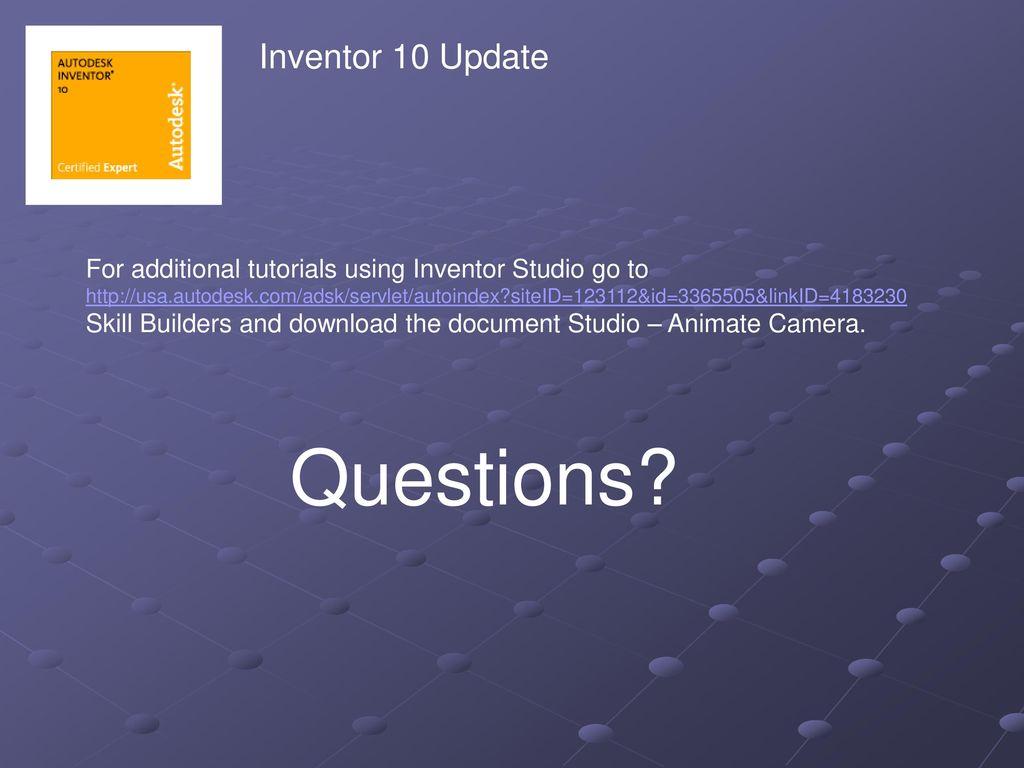 Autodesk Inventor 10 Update Class - ppt download