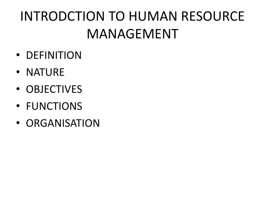 introdction to human resource management - ppt download