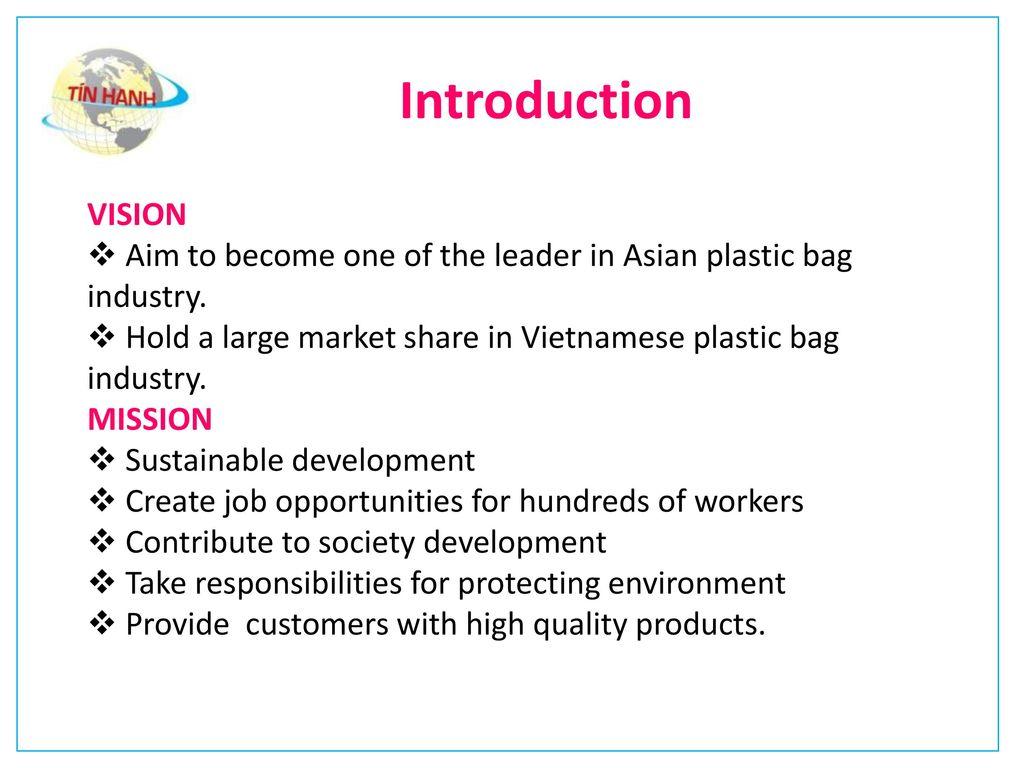 TIN HANH PLASTIC BAG PRODUCTION EXPORT – PACKING CO , LTD