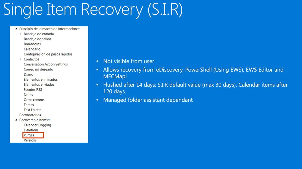 Data recovery in Exchange Online - ppt download