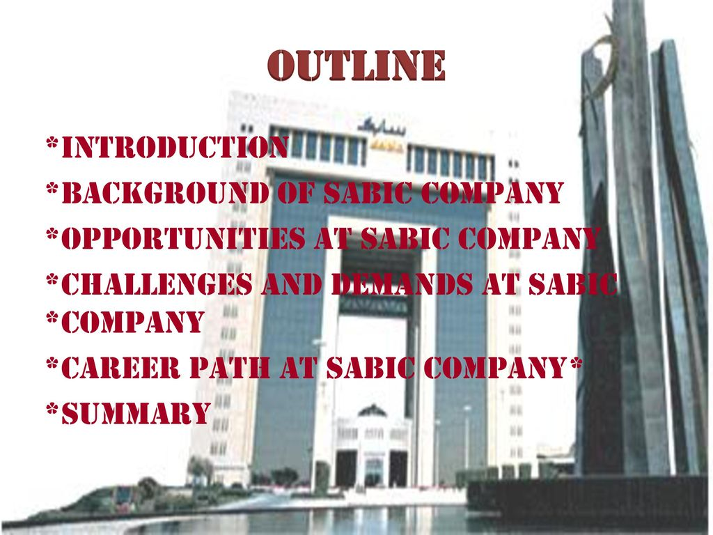 My Career Path at Sabic Company - ppt download