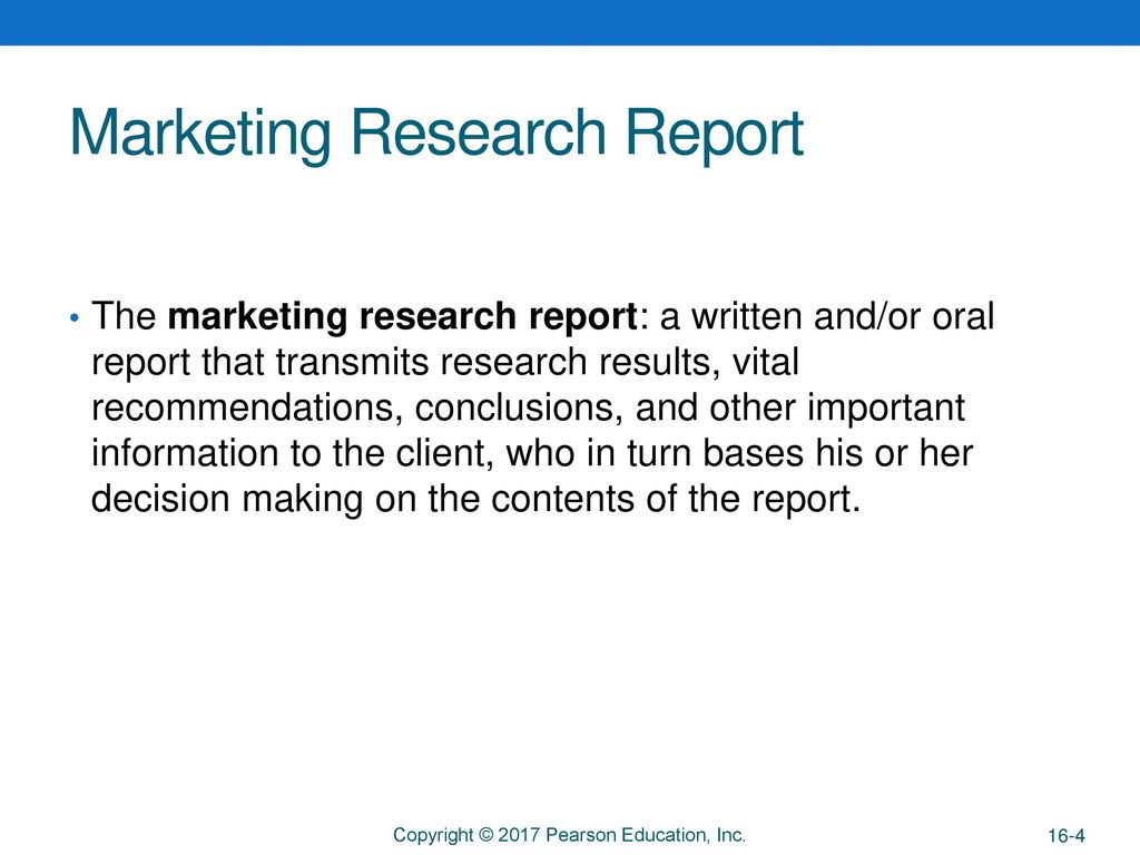 Chapter 16 The Research Report  - ppt download