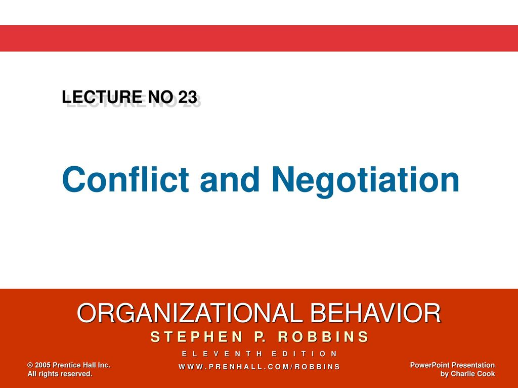 Conflict and Negotiation - ppt download