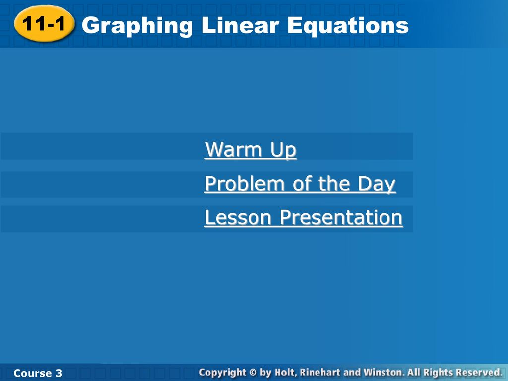 Graphing Linear Equations - ppt download