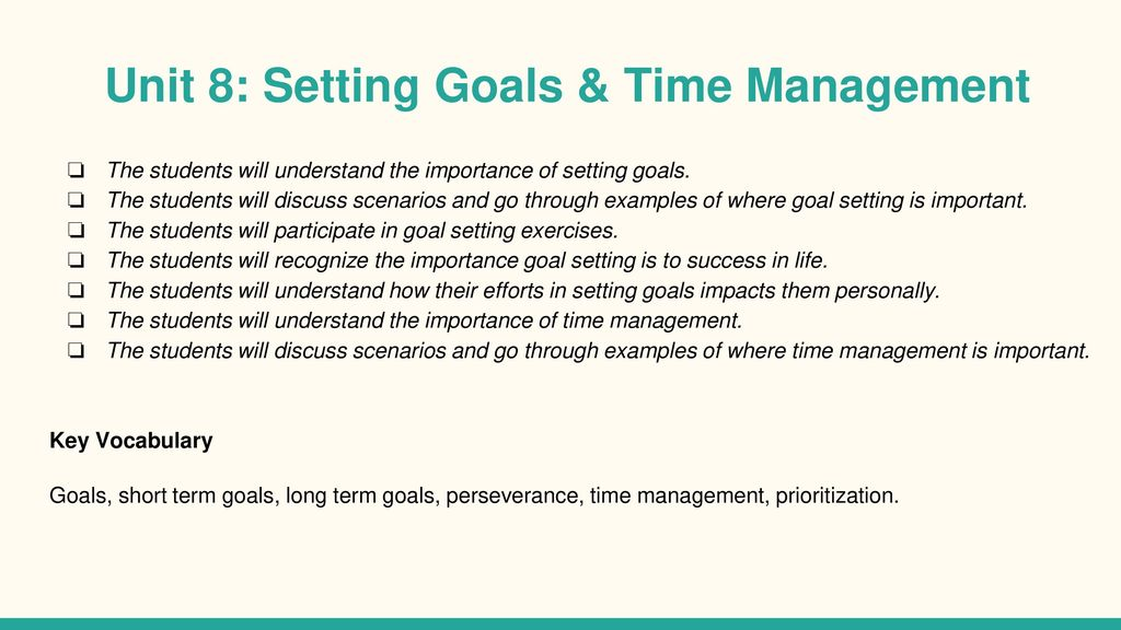 time management scenarios for students