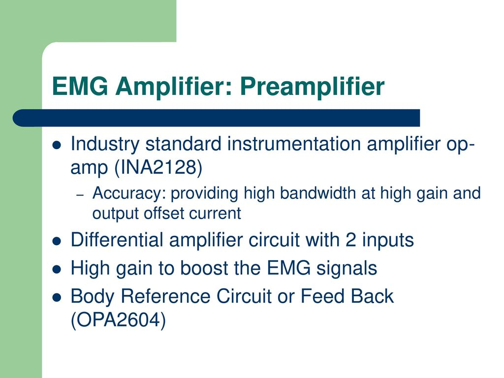 Eye Controlled Operation For Disabled People Using Emg Ppt Download Current Triple Op Amp Instrumentation Amplifier With Bias Preamplifier