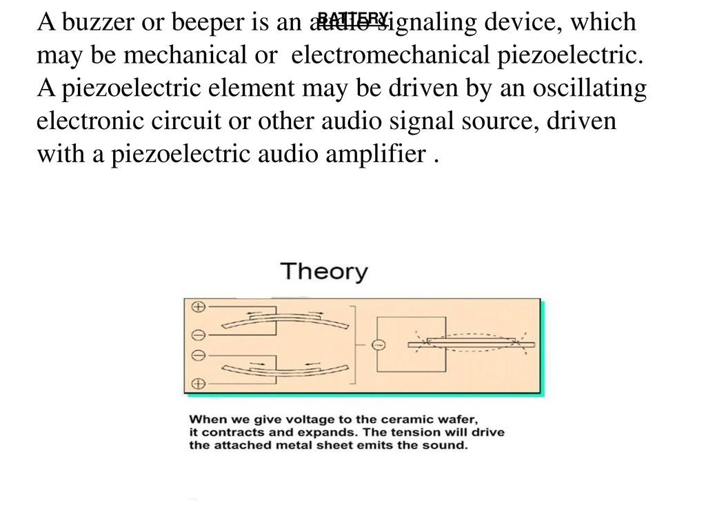 Hidden Active Cell Phone Detector Ppt Download Piezo Buzzer Circuit A Or Beeper Is An Audio Signaling Device Which May Be Mechanical Electromechanical