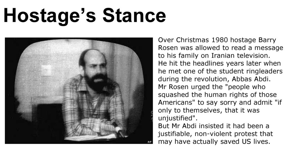 10 Hostages Stance Over Christmas 1980