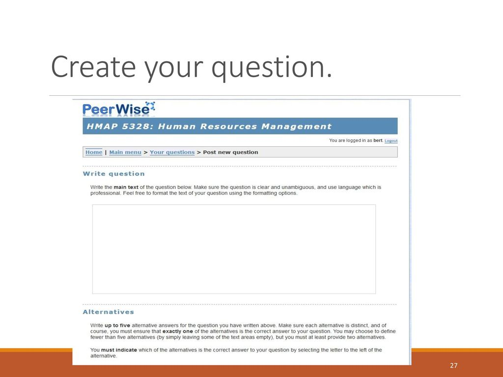 PeerWise Student Instructions - ppt download