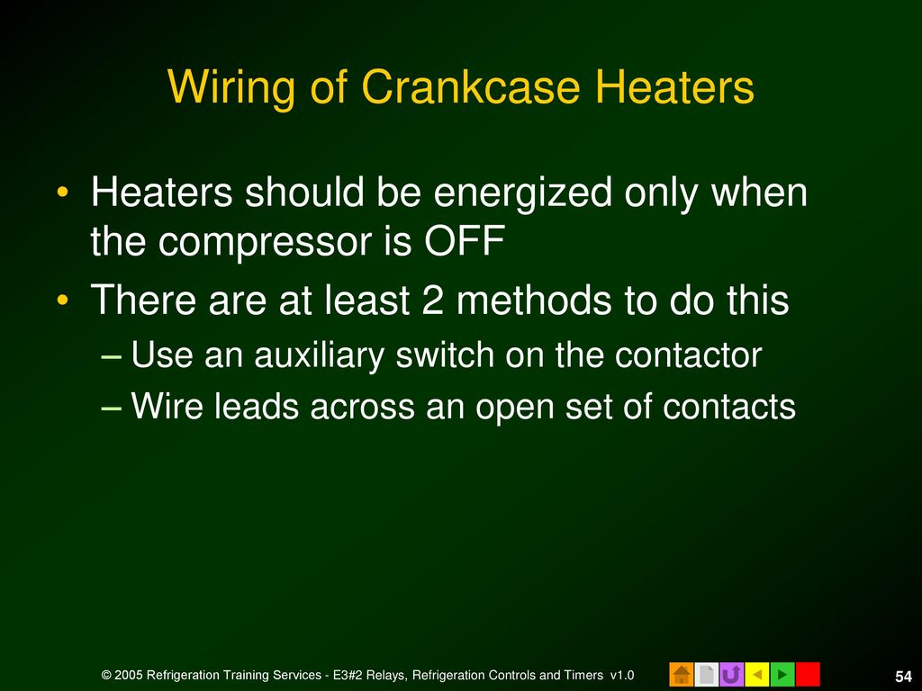 E3 Hvacr Controls And Devices Ppt Download Relay Switch In Refrigerators 54 Wiring Of Crankcase Heaters