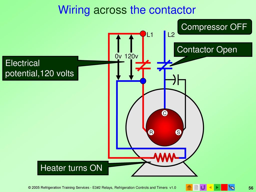E3 Hvacr Controls And Devices Ppt Download 120 Volt Contactor Wiring 56 Across The