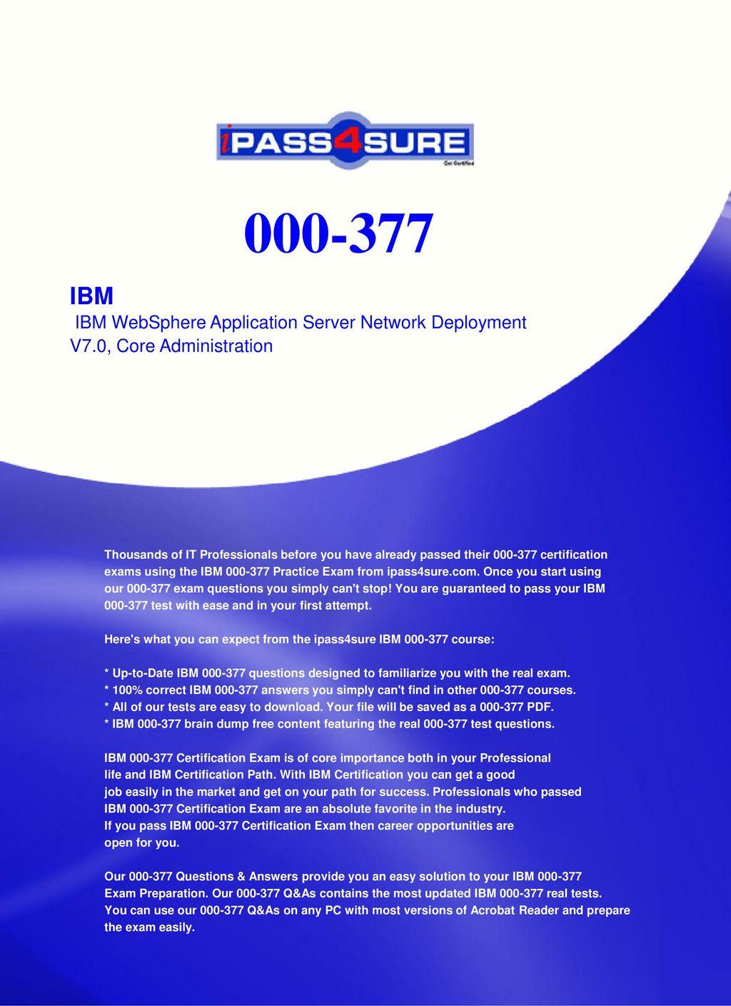 000-377 pdf] practice 000-377 prep guide pass ibm 000-377 prep.
