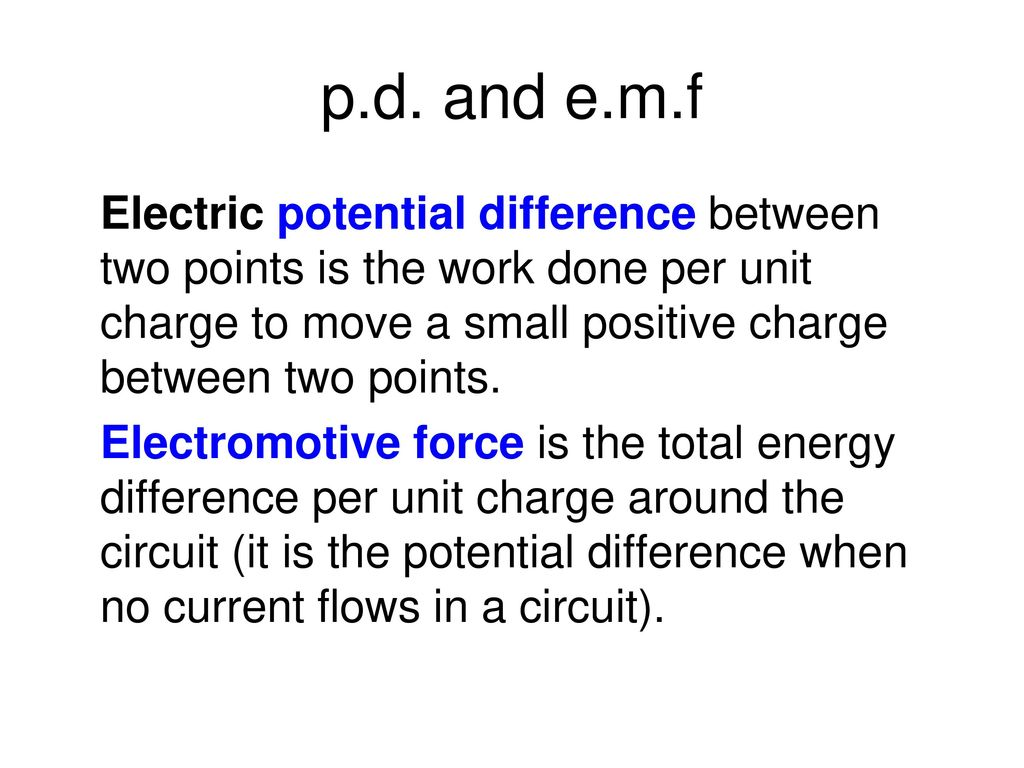 difference between emf and potential difference pdf