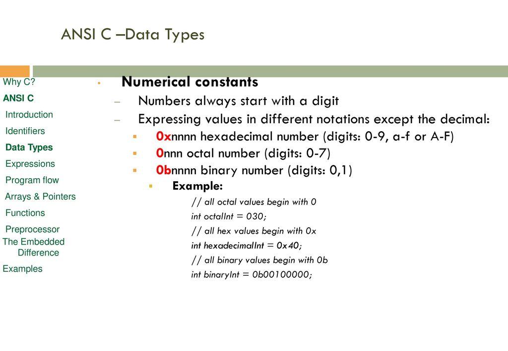C Language programming - ppt download