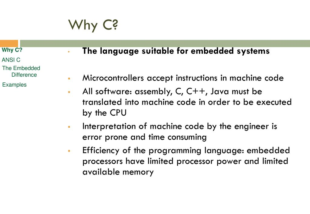 embedded c programming tutorial pdf