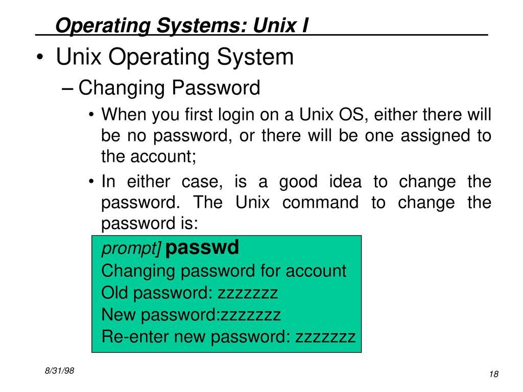 command to change password in unix