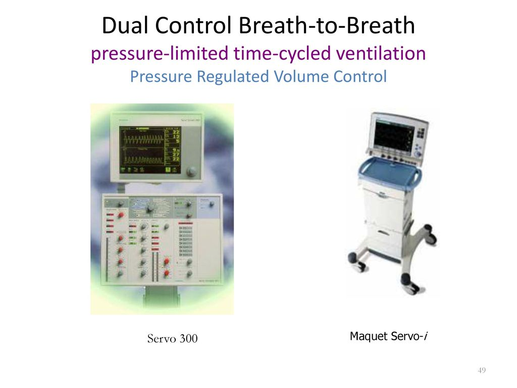 ... 300 Maquet Servo-i. Dual Control Breath-to-Breath pressure-limited  time-cycled ventilation Pressure Regulated