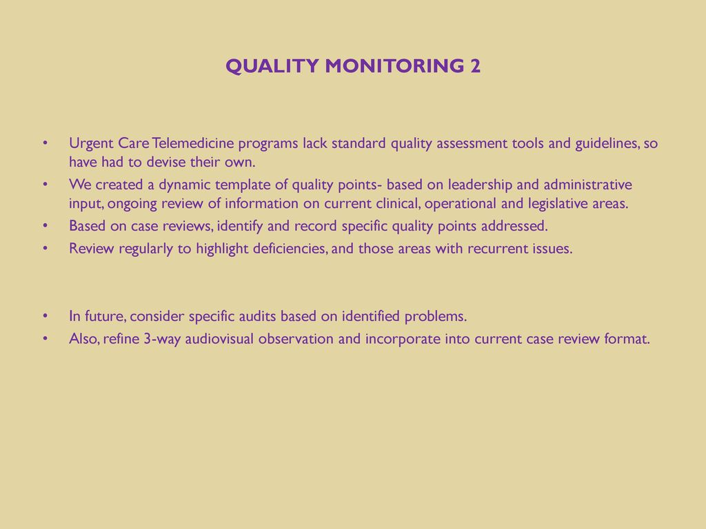 78 Quality Monitoring