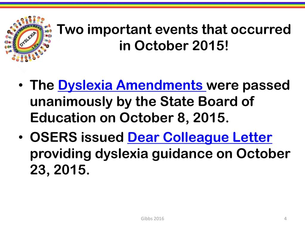 Dear Colleague Oser Guidance On Dyslexia >> Dr Denise P Gibbs Director Ppt Download