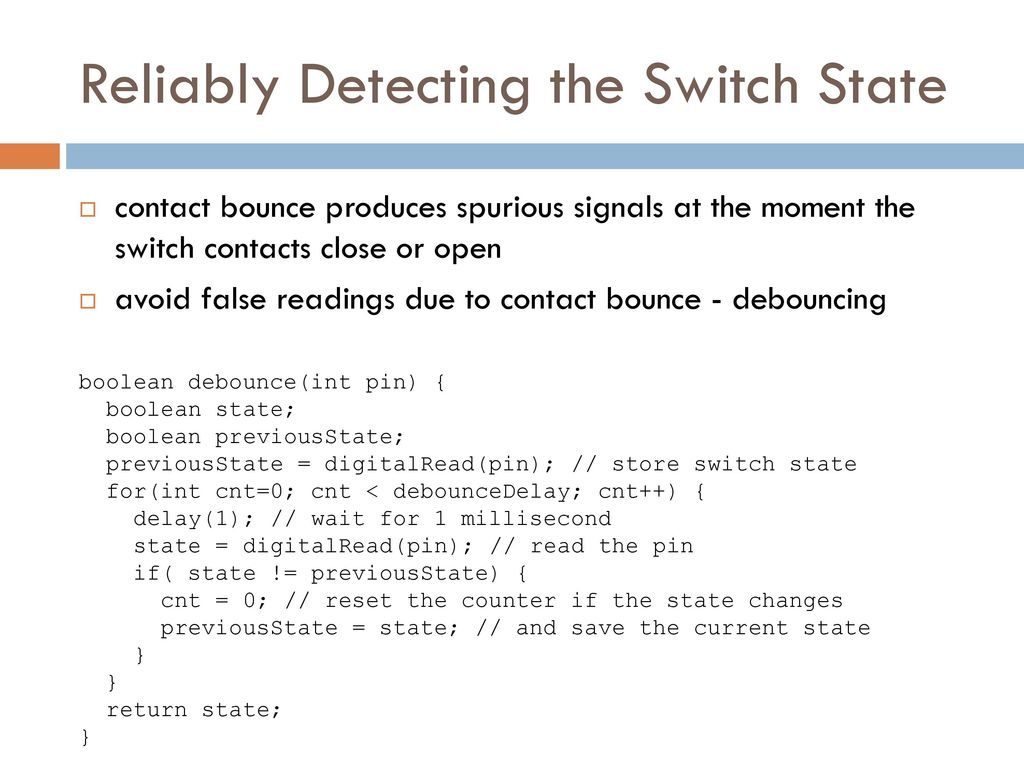 Assist Prof Rassim Suliyev Sdu Ppt Download Debouncing Circuit In Switch Open And Closed States Reliably Detecting The State