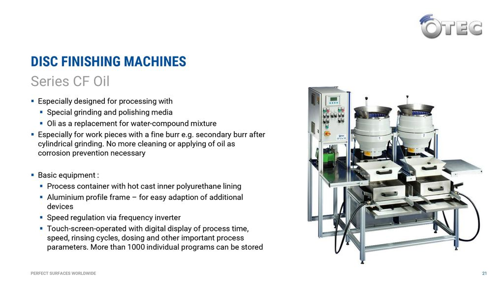 DISC FINISHING MACHINES - ppt download