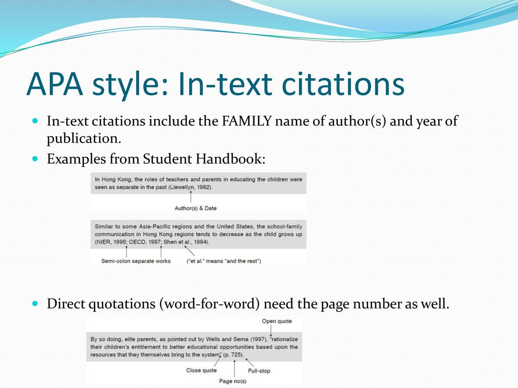 Writing Workshop I Apa Style And Avoiding Plagiarism Ppt