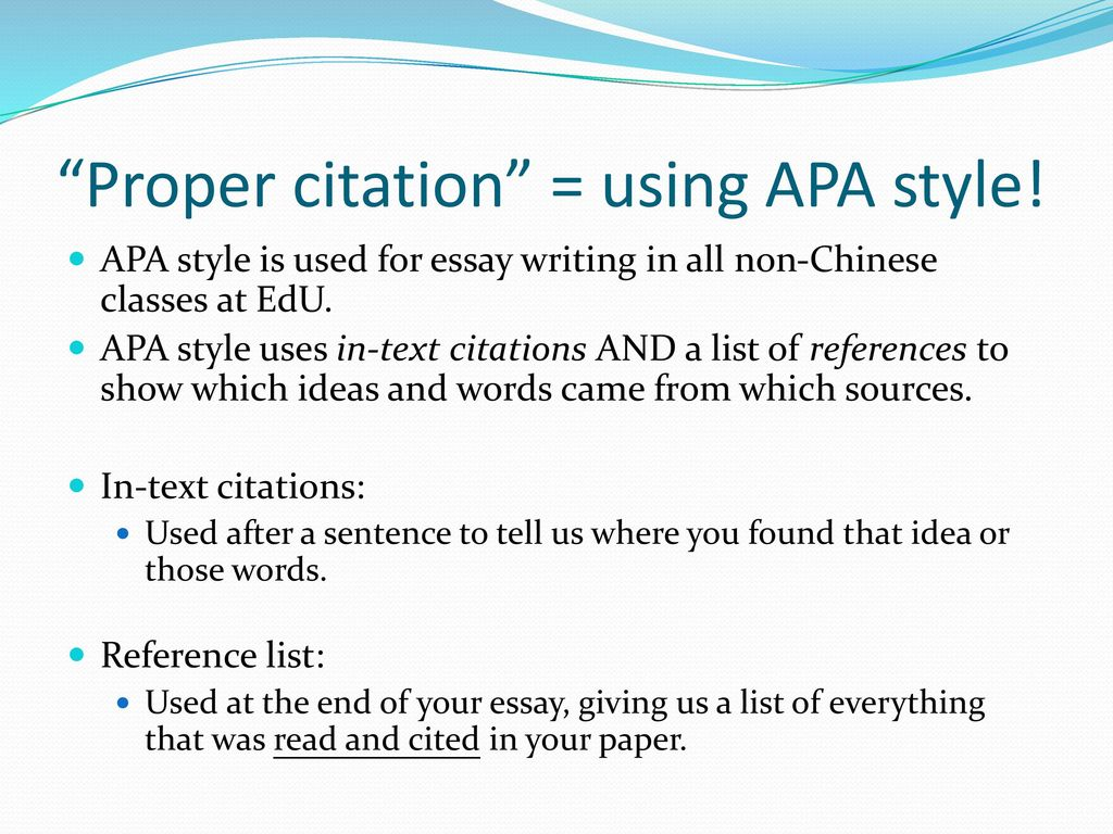 How to cite chinese sources in apa style