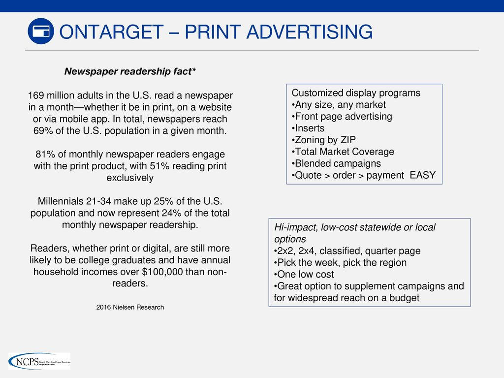 Newspaper and Digital Advertising Solutions - ppt download