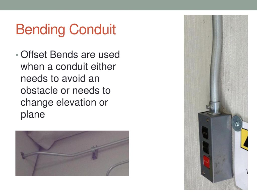 Bending Electrical Conduit Ppt Download With How To Bend Together 2