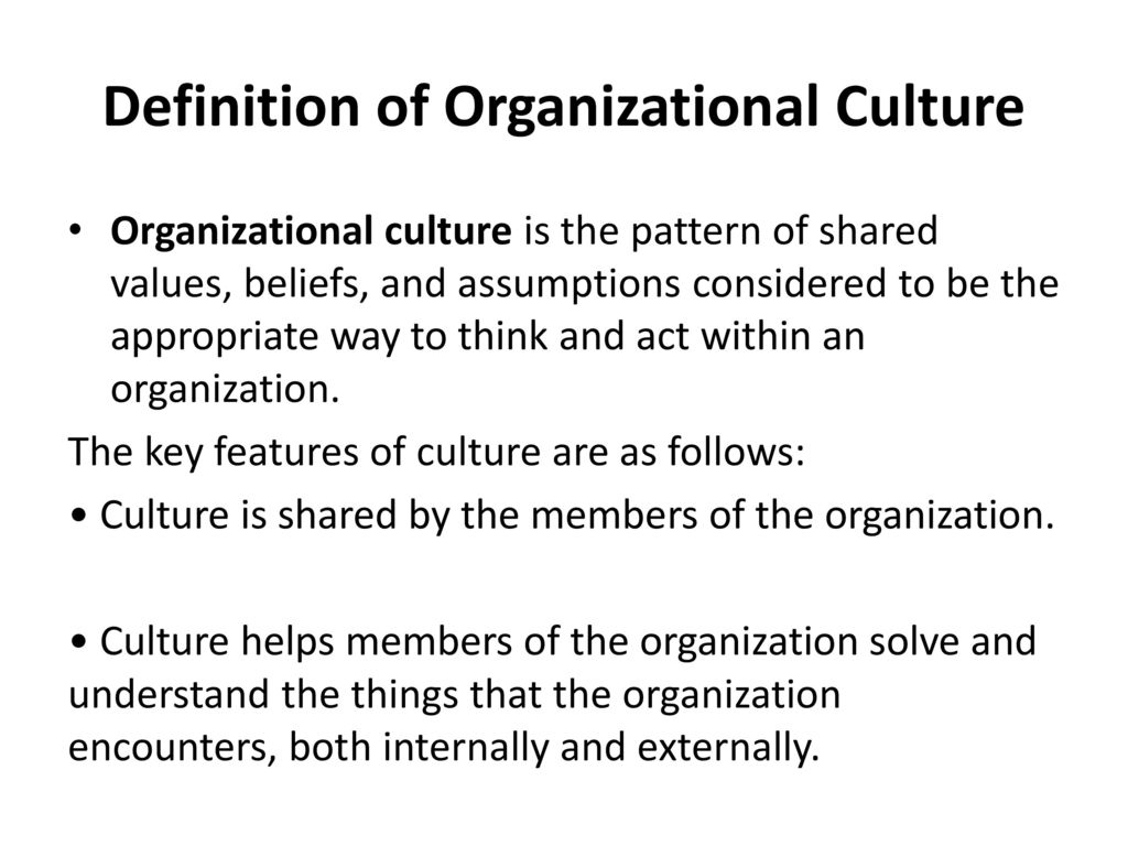 organisational culture - ppt download