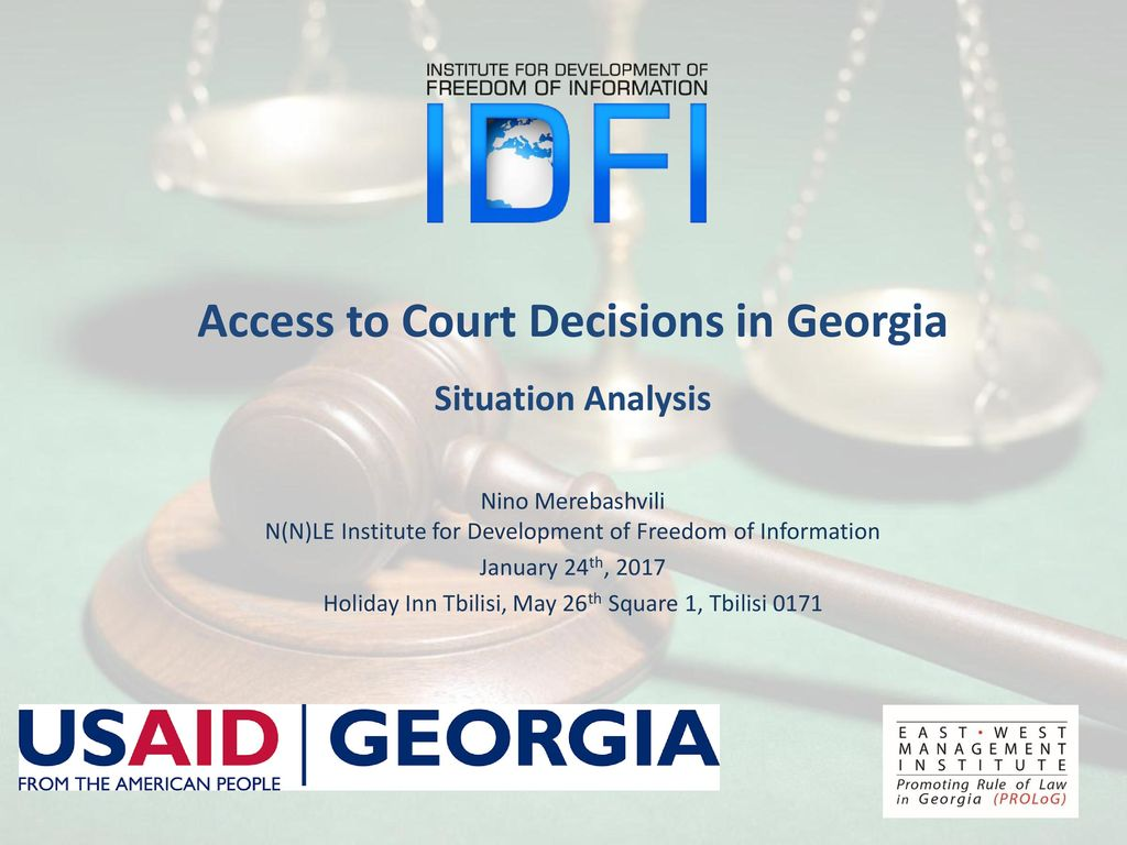 Situation Analysis Access to Court Decisions in Georgia