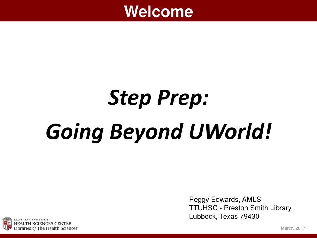 Step Prep: Going Beyond UWorld! - ppt download