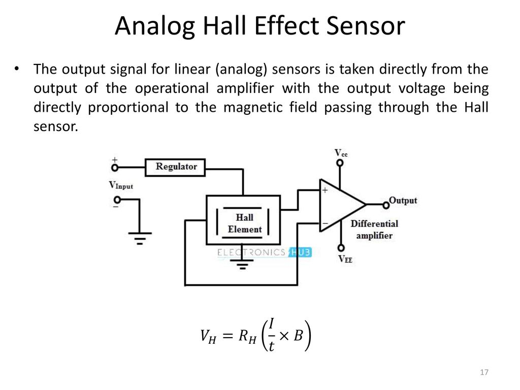Sensors Actuators For Automatic Systems Saas Ppt Download Geomagnetic Field Detector Circuit Analog Hall Effect Sensor