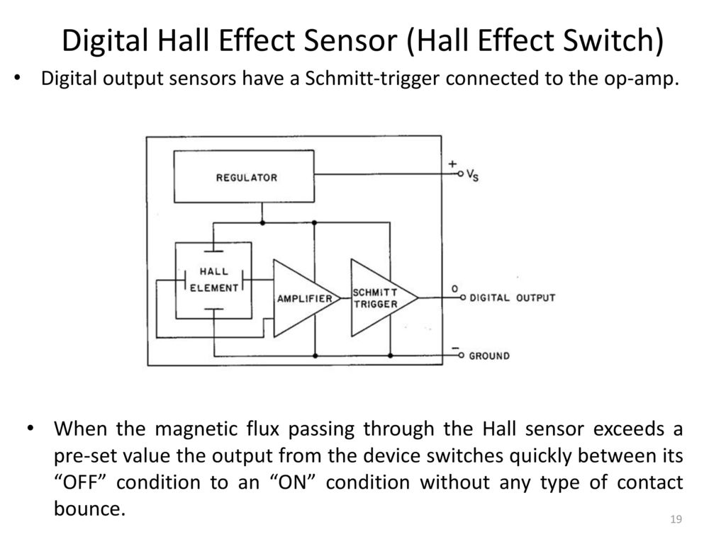 Sensors Actuators For Automatic Systems Saas Ppt Download Reed Switch Controls Operational Amplifier Circuit Diagram Digital Hall Effect Sensor