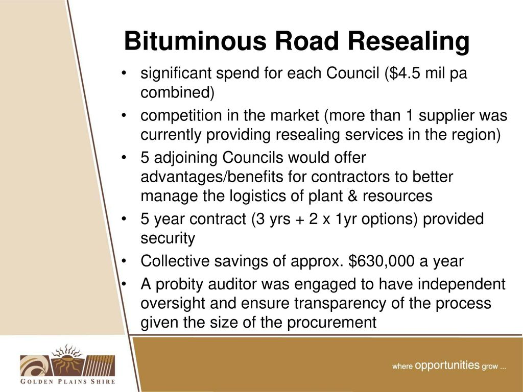 Collaborative Road Resealing Project - ppt download