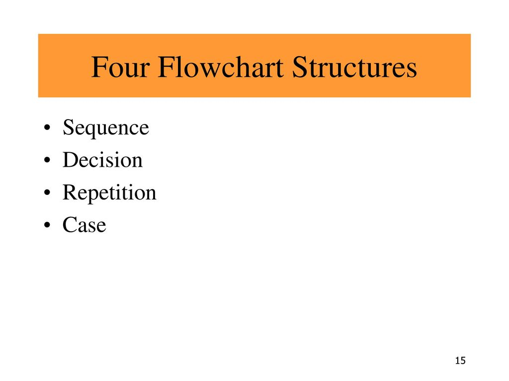 Four Flowchart Structures